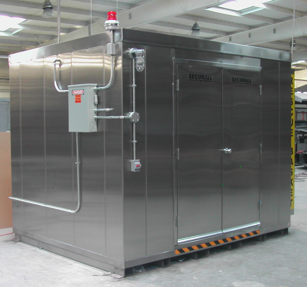 Stainless Steel Sheds : Securall custom storage buildings prefabricated