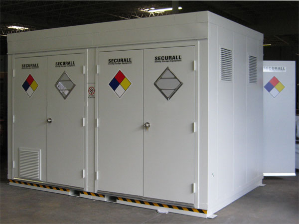 Portable Hazmat Storage Buildings : Securall paint kitchens storage buildings
